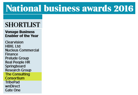 National Business Awards Shortlist 2016