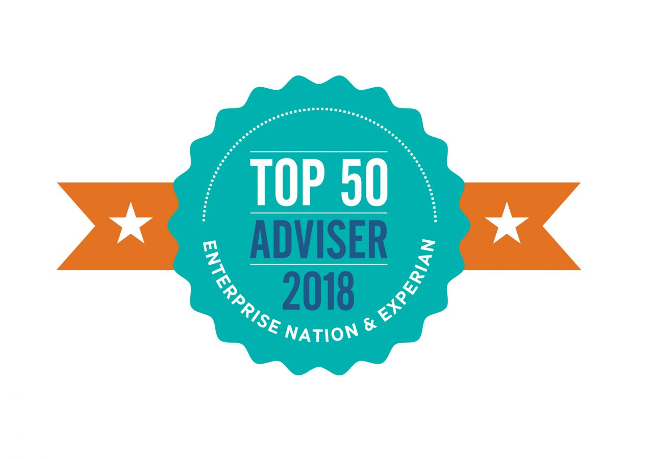 UK Top 50 Business Adviser badge