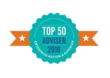 UK Top 50 Business Adviser badge