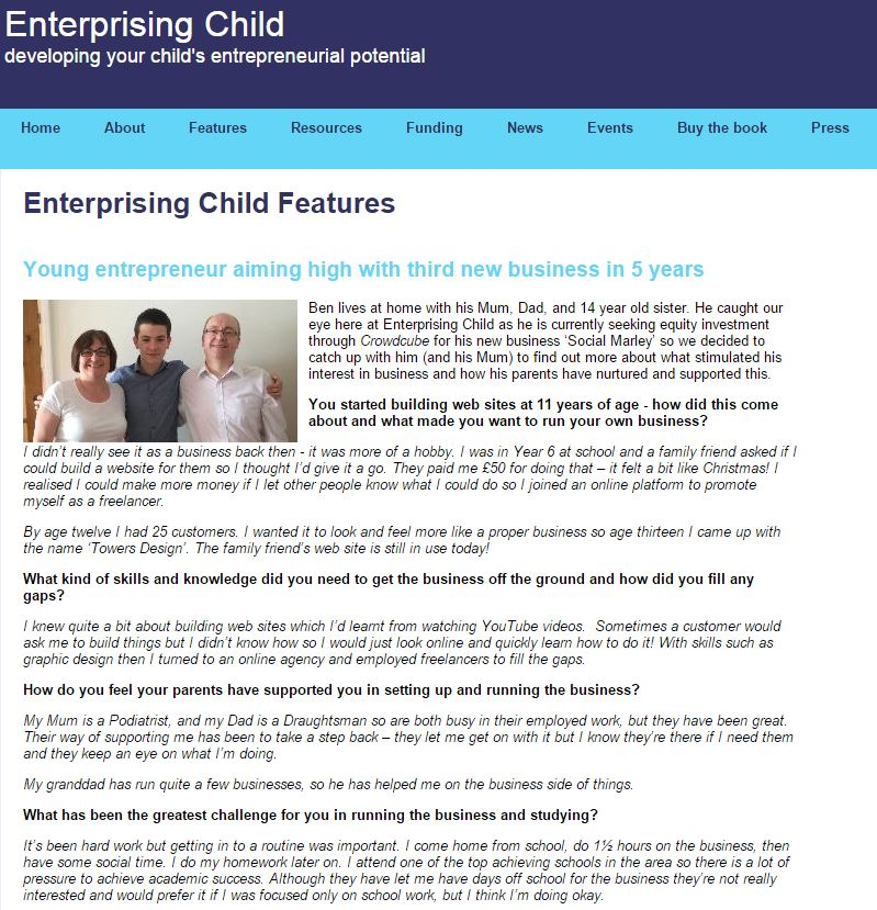 enterprising child